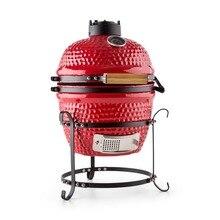Высокое качество 13 дюймов овальной формы мини-гриль керамика Kamado открытый уголь печь для пиццы гриль барбекю