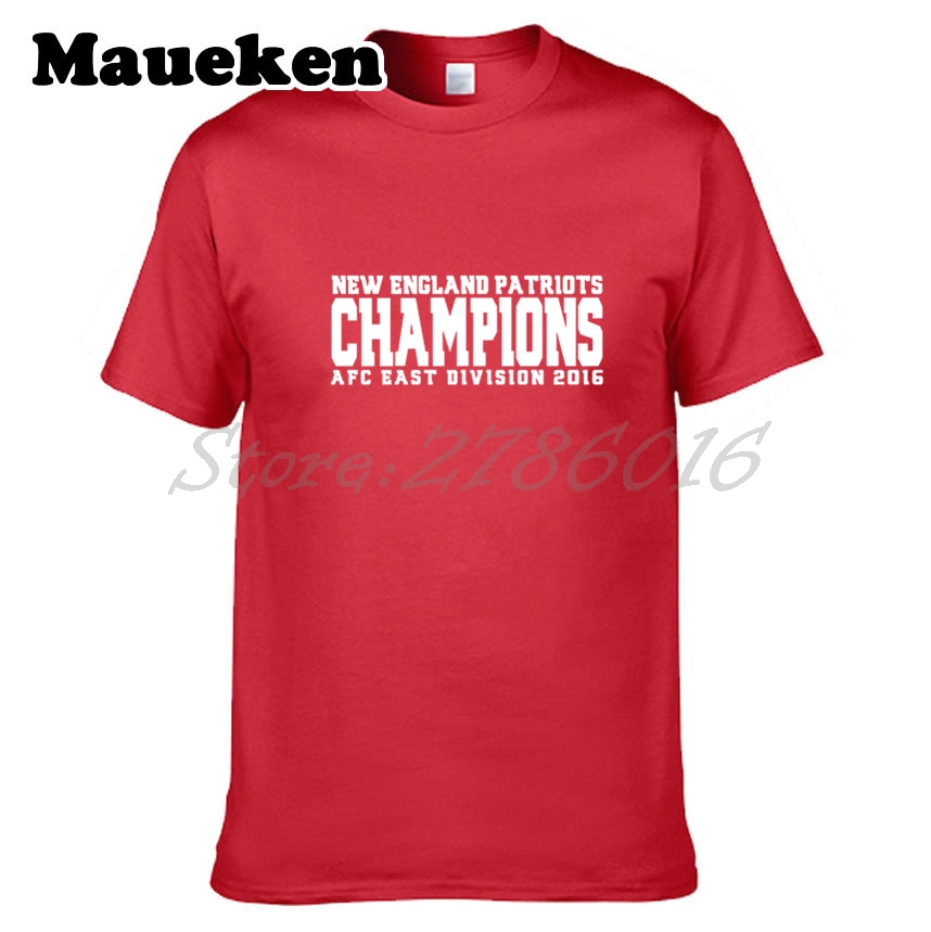 Men New England AFC East Division 2017 Champions T shirt Clothes Short  Sleeve Patriots T SHIRT Men s Fashion W0123009-in T-Shirts from Men s  Clothing on ... df187c3f0