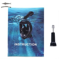 PIKOBELLO Hot Selling Diving Mask Swimming Scuba Anti Fog Foldable Top Dry Snorkeling Full Face Mask For GoPro Camera