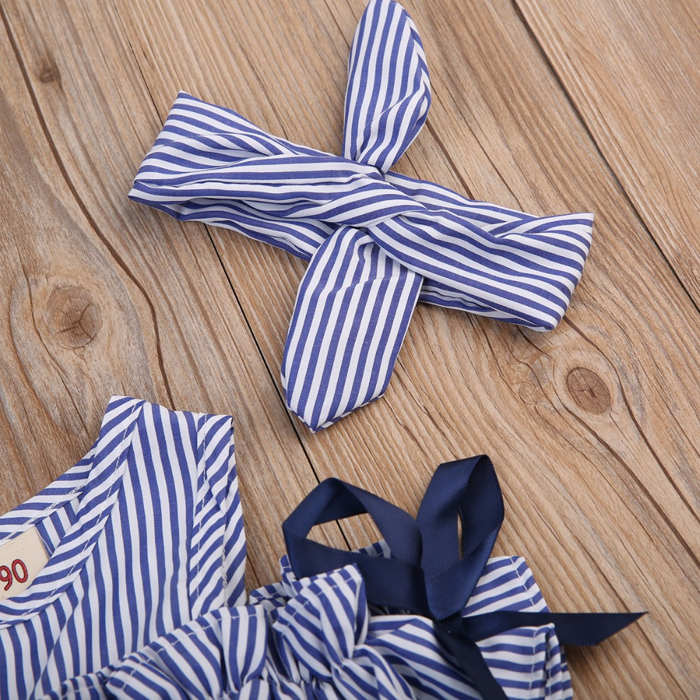 Hot 2018 New Summer Dress Toddler Kids Baby Girls Lovely Birthday Clothes Blue Striped Off shoulder Hot 2018 New Summer Dress Toddler Kids Baby Girls Lovely Birthday Clothes Blue Striped Off-shoulder Ruffles Party Gown Dresses