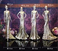4style 40cm Women creative home furnishings resin crafts Wedding clothing store decorations ornaments Female mannequin 1pc C547