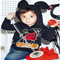 Novelty Cute Newborn Baby Kids Girls Boys Minnie Mouse Hooded Long Sleeve Jacket Sweatshirts Hoodie Cotton Coat 1-6Y