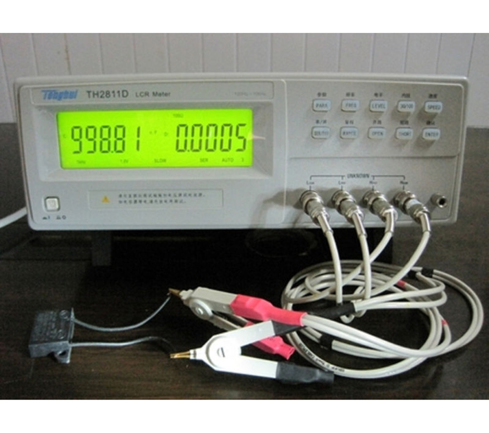 Digital LCR Meter TH2811D latest Measurement Technologies Large Character LCD Display Surface Mount Technique