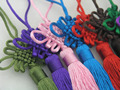 10pcs 16 Colors Silky Handmade Large Size(4.9'') Soft Tassels with Satin Silk Made Chinese Knots