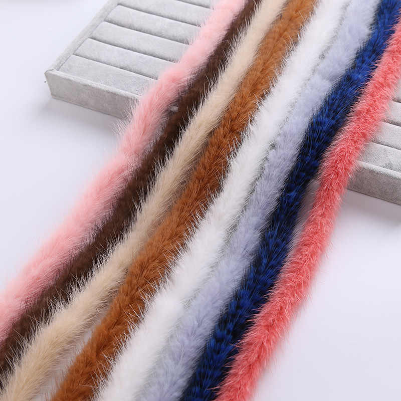 100% véritable fourrure de vison garniture bord vêtements accessoires bricolage matériel chandail vers le bas manteau capuche chapeau chapeau de fourrure col chaussures TKS012-red