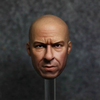 1/6 Scale Vin Diesel Head Sculpt Model for 12 Inch Body HeadPlay Action Figure