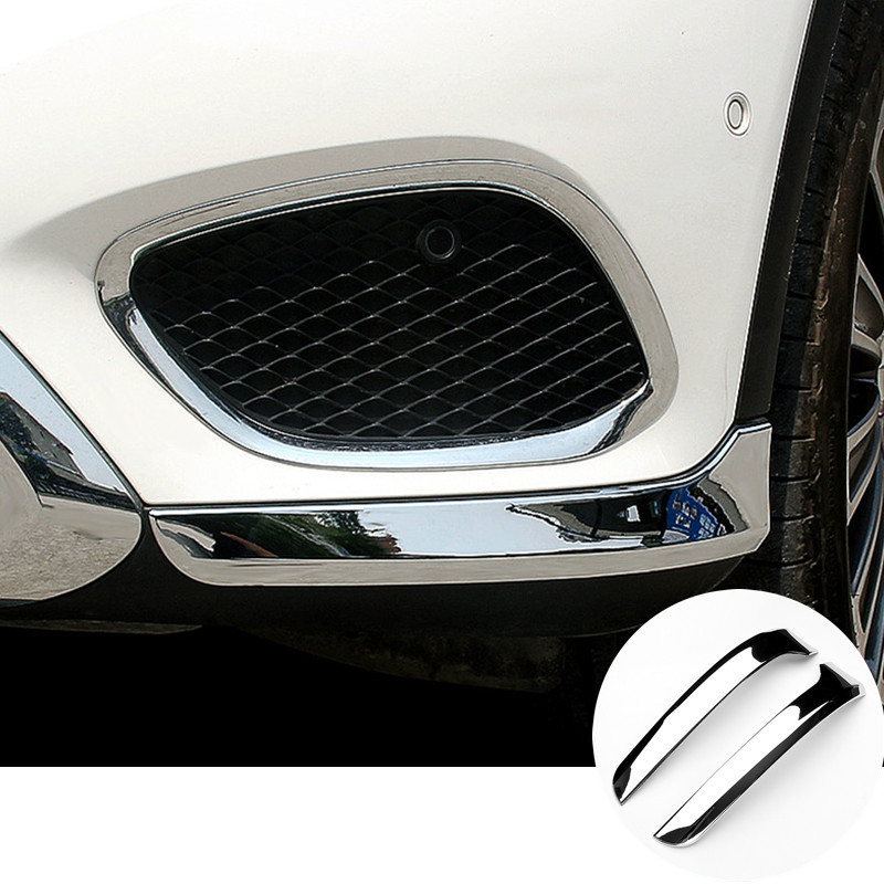 Couvercle de moulage d'angle de pare-chocs avant ABS 2 pièces pour Mercedes Benz GLC X253 2015-2018