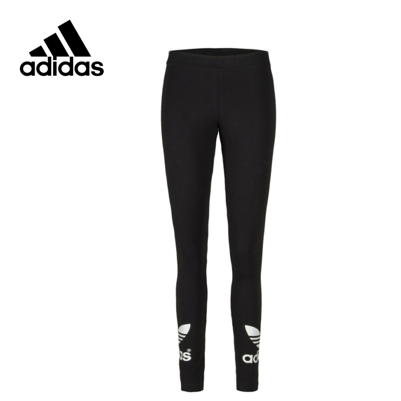 Adidas Original New Arrival Official Women's Tight Elastic Waist Full Length Pants Sportswear AJ8153 original new arrival official adidas women s tight elastic training black pants sportswear