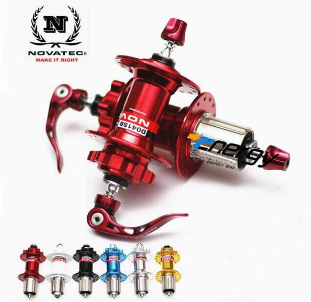 Moyeu Novatec D041SB D042SB moyeu vtt vélo avant + arrière + ensemble de dégagement rapide moyeux de vélo BMX trous de roulement de disque 28 32 36 Original
