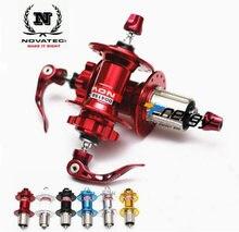 Novatec hub d041sb d042sb mtb hub bicicleta dianteiro/traseiro conjunto de liberação rápida cubos de bicicleta 4 rolamento bmx buracos 28 32 36 para 8-9-10-11speed