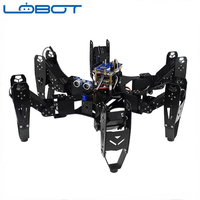 LOBOT Hexapod Spider Robot Six legged with 20 CH Controller Servo Motor Action Remote Control RC Parts Robot Toy