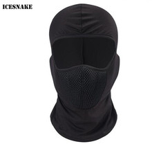 ICESNAKE Motorcycle Face Mask Balaclava Moto Ski Skull Full Beanie Tactical Shield Cycling Training Caps