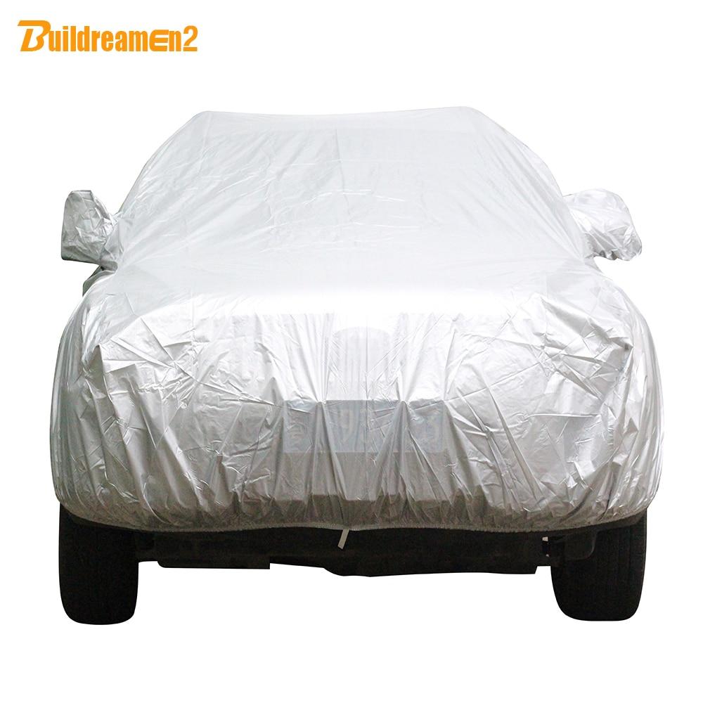 Buildreamen2 Universal Car <font><b>Cover</b></font> Sunshade Rain Snow Dust Frost Resistant Car-<font><b>Cover</b></font> UV-Anti Sun Dustproof