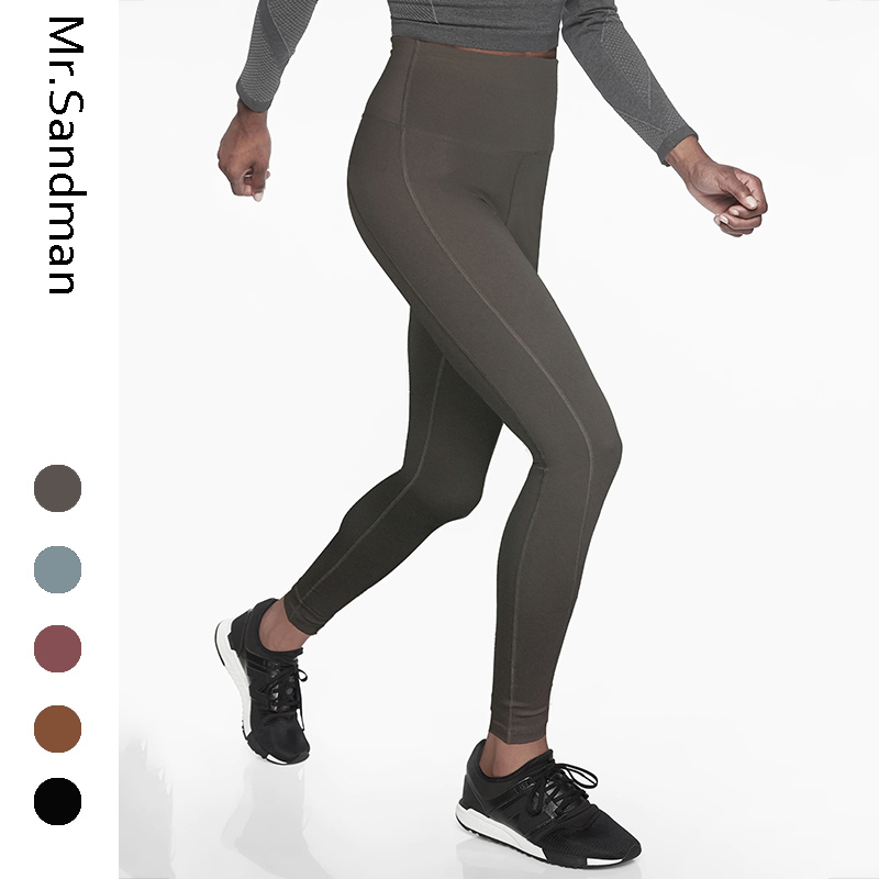 High waist solid yoga pants hip curve tummy control sport leggings sculpture slim athletic leggings workout gym tights for women