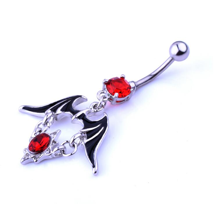 moda joyas Bat and superman Belly Button Rings Belly Barbell Body Piercing Jewelry Stainless Steel Belly Navel Piercing