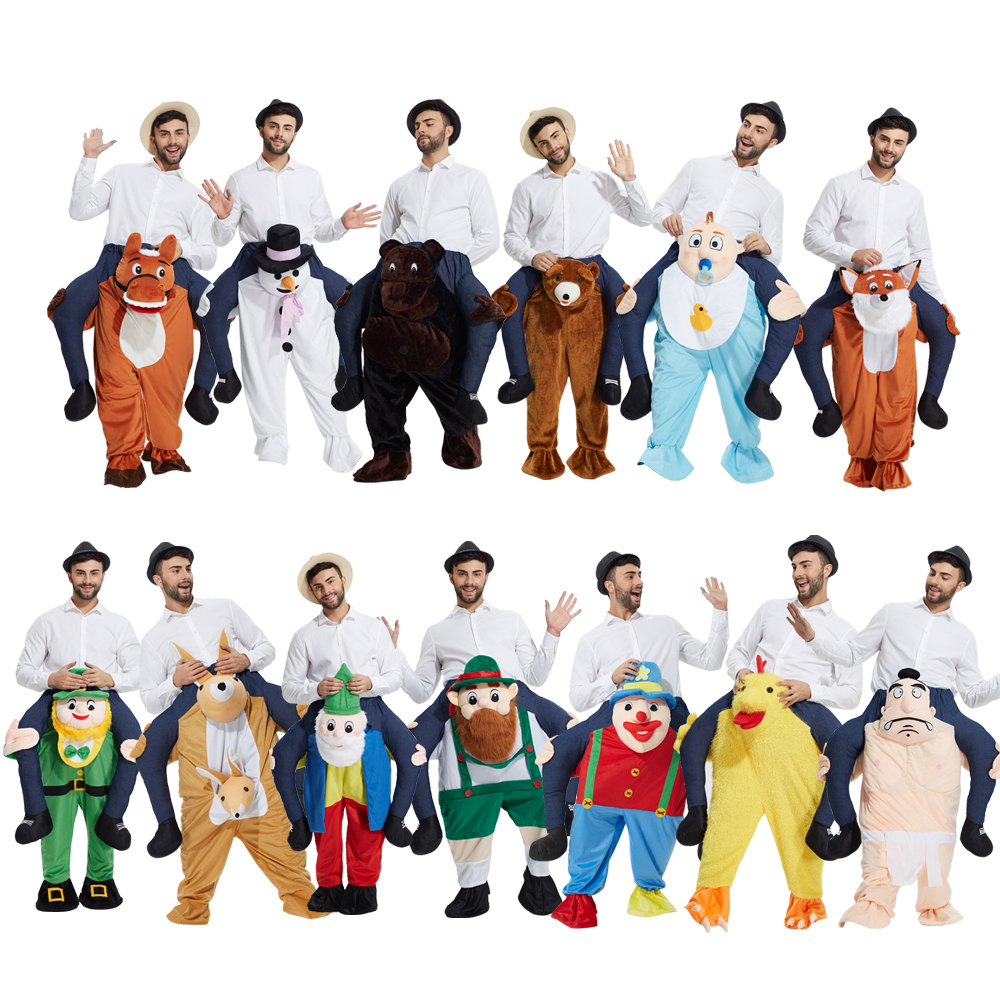 Shoulder Ride On  Piggy Back Ride On costume Fancy Dress Adult Party Costume Mens Mascot for Halloween Purim