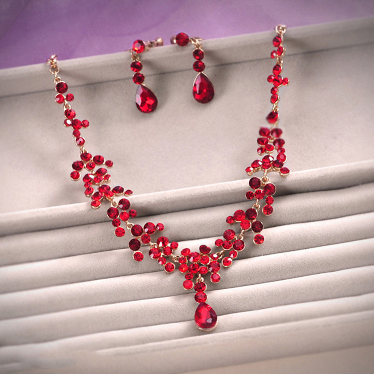 Buy hot sale red drop crystal rhinestone for Buying jewelry on aliexpress