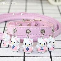 Dog Cat Pu Small And Medium Sized Dog Collar Pet Supplies Bells Cat Collar