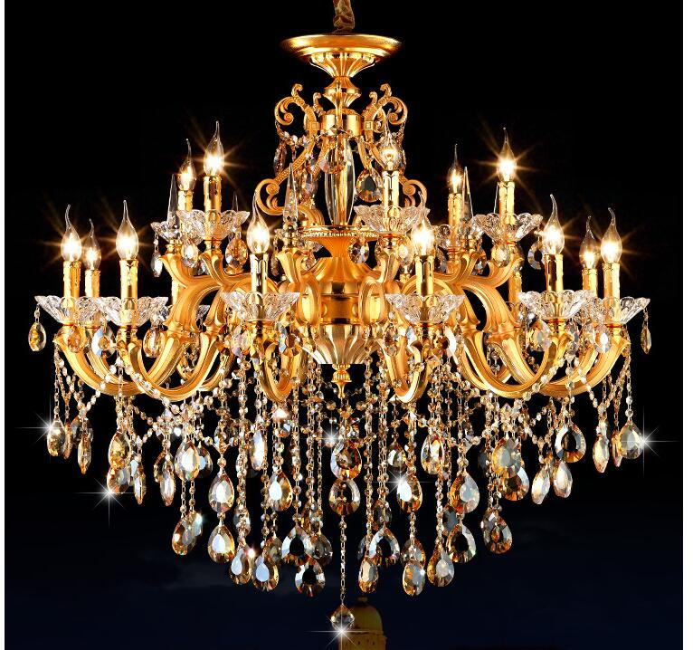Compare Prices on Golden Chandelier 6 Lights- Online Shopping/Buy ...:Free Shipping Golden Luxurious K9 Crystal Chandelier Zinc Alloy Lustres De  Cristal Chandeliers 6 Arms Optional,Lighting