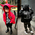 Boys Winter Warm Jacket 2017 New Brand Hooded Kids Cartoon Coat Long Sleeve Cotton-padded Children's Clothes Thin Outerwear 2-8Y