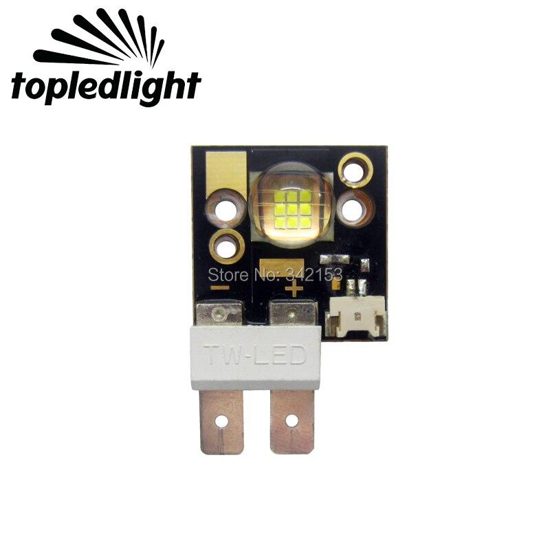 Topledlight Customize 60W White 6500-7000K COB Led Emitter Lamp Light 3-4V 4-14A 2500LM Stage Lamp Light On Copper PCB Board topledlight customize 50w blue 450nm 42mil
