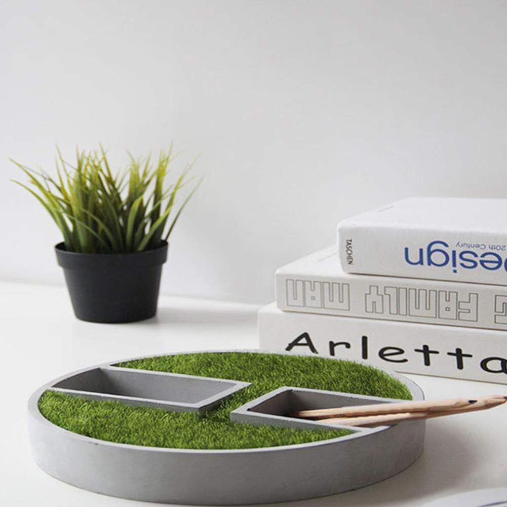Moule en Silicone petit bâtiment rond fait à la main 3D planteur de béton Cactus ciment argile pour travaux pratiques artisanat Pot de fleur moule Silicone Vase moule