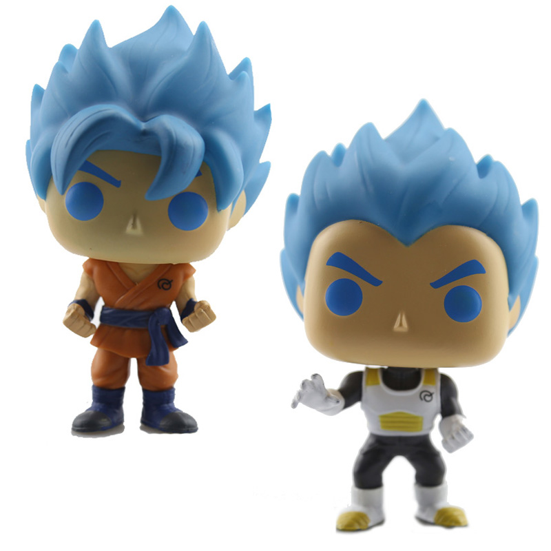 Exclusive Official Dragon Ball Z Resurrection F Doll Super Saiyan God Vegeta Action Figure PVC Bobble Head Q Edition For Car Toy anime dragon ball super saiyan 3 son gokou pvc action figure collectible model toy 18cm kt2841