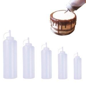 Image 1 - Accessori per la cucina Dispenser per bottiglie di plastica da 8 once per salsa aceto olio Ketchup strumenti di cottura 180ml 270ml 390ml 720ml