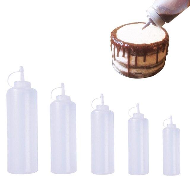 Accessori per la cucina Dispenser per bottiglie di plastica da 8 once per salsa aceto olio Ketchup strumenti di cottura 180ml 270ml 390ml 720ml