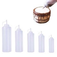 מטבח אביזרי פלסטיק לסחוט בקבוק Dispenser 8oz לרוטב חומץ שמן קטשופ Cookling כלים 180ml 270ml 390ml 720ml