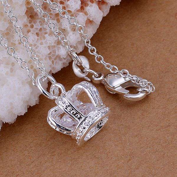 Free Shipping 925 jewelry silver plated Jewelry Pendant Fine Fashion Cute Insets