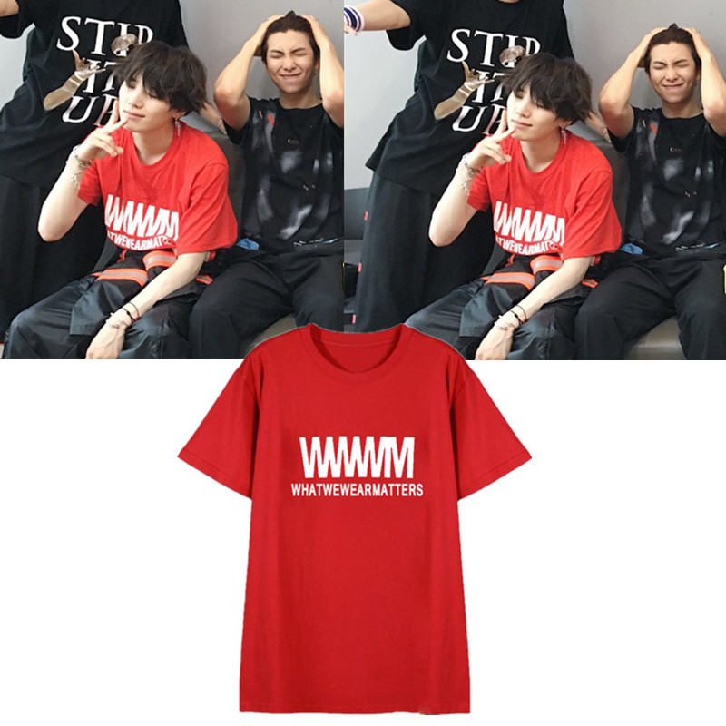 kpop BTS bulletproof Cadet Min Yun its suga T shirt color optional cotton T-shirt lovers K