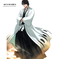 2018 Halloween Death Bleach 5th Division Captain Aizen Sousuke Cosplay Costum Men's Uniform Suit Any Size Free Shipping