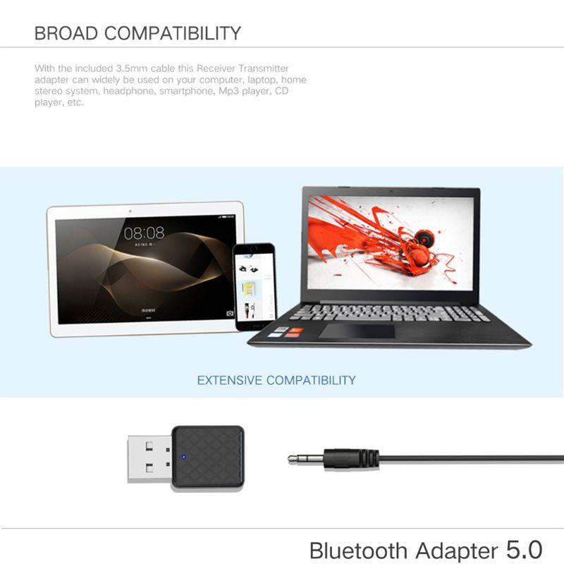 Unterhaltungselektronik Usb Bluetooth Empfänger Sender 5,0 Wireless 3,5mm Audio Musik Stereo Adapter Dongle Für Tv Pc Bluetooth Lautsprecher Kopfhörer Chinesische Aromen Besitzen
