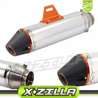 51mm 370mm Exhaust Muffler System Slip On For CRF150F CRF230F 2003 2013 Motocross Enduro Supermoto Dirt