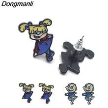 DMLSKY Cartoon earrings Jewelry Prevent allergy Stud Earring Pendant for Kids Girls Cute Gifts M2579