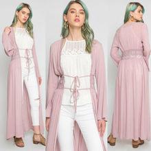 цены на Women Casual Vintage Kimono Cardigan Ladies 2019 Summer Long Crochet Lace Kimono Preto Loose Floral Printed Blouse Tops Black  в интернет-магазинах
