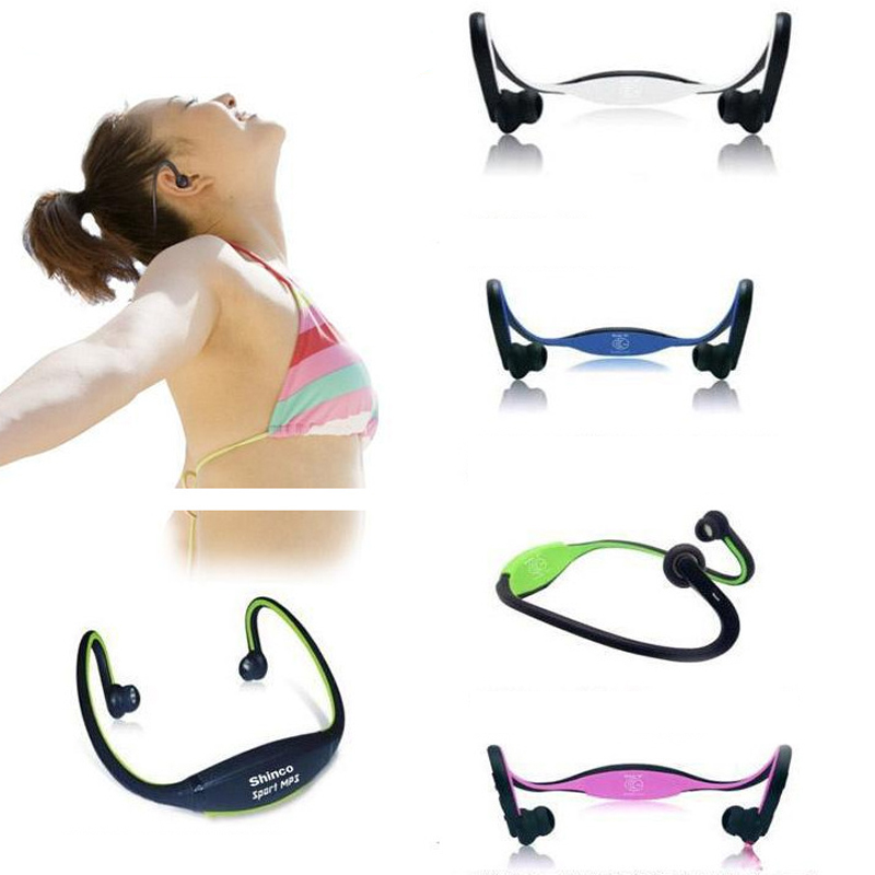 W1 MP3 Neckband Earphone Wireless USB Charged TF Card MP3 Player Earphone Sport Running Music Headset Portable Audio Accessories