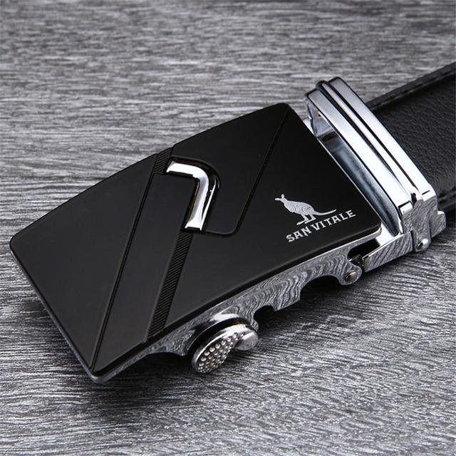 2017 Fashion designer leather strap male automatic buckle belts for men authentic girdle trend men's belts ceinture free shipping