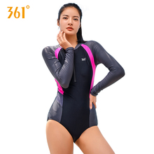 361 Womens Swimming Suit Patchwork Sports Swimwear Black Triangle Push Up Swimsuit for Pool One Piece Bathing Suits