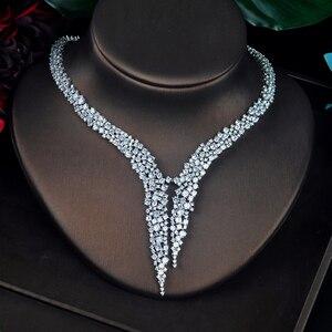 Image 4 - HIBRIDE الفاخرة تصميم AAA مكعب الزركون طقم مجوهرات الزفاف جودة عالية بريليانت موضة الخطوبة مجموعة N 674