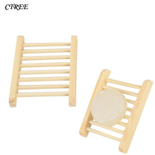 CTREE Portable Soap Tray Holder Natural Bamboo Wooden Soaps Dish Box Container Wash Shower Storage Stand Home Bathroom Tool C46