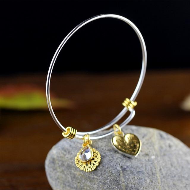KJJEAXCMY Neues Angebot Thai Silber produkt liefern S925 vergoldet armband aus dispositional Frau Deer