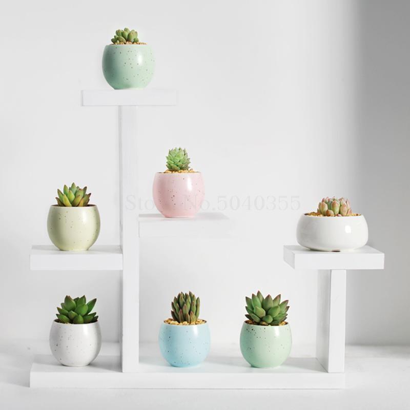 Настольная подставка для цветов из цельного дерева для помещений, многослойная маленькая подставка для цветов, зеленая Цветочная рамка, украшение для гостиной, оконная стойка для горшка - Цвет: VIP 5