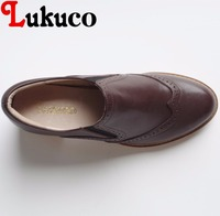 Lukuco Mature Style Retro Women Casual Pumps Caned Decoration Microfiber Made Low Heel Shoes With Pigskin