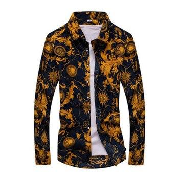 Men's Floral Print Slim Fit Shirts