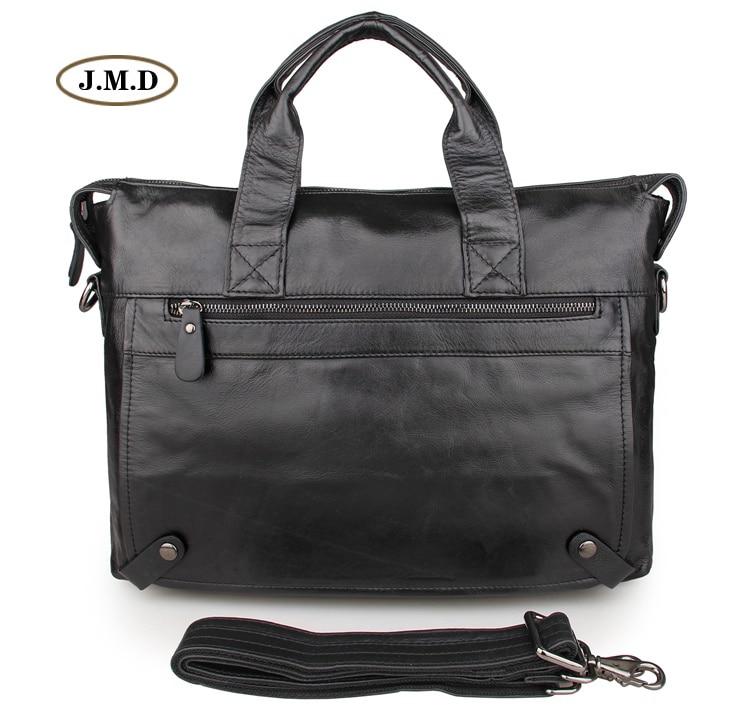 Hot Selling Genuine Cow Leather Black Brown Classic Design Business Briefcases Male Shoulder Bag Laptop Handbag 7120