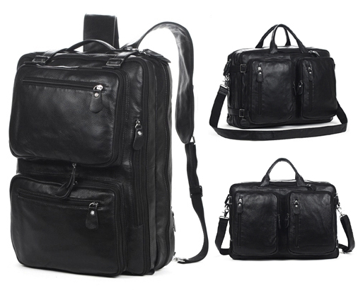 Online Buy Wholesale black leather rucksack from China black ...