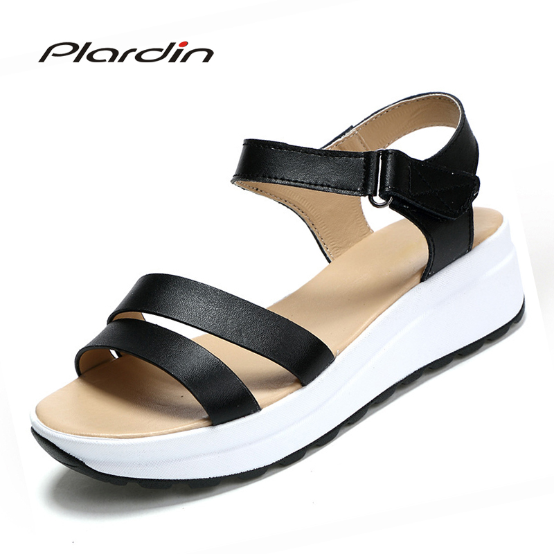 plardin 2017 women shoes summer Narrow Band Buckle Strap style flat heel soft leather casual Ankle Strap woman beach sandals phyanic 2017 summer new women sandals with chain women buckle strap flat platform summer casual shoes woman phy3413