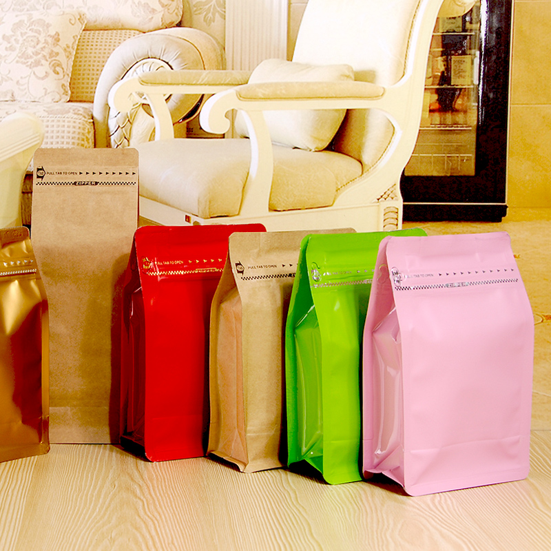 10pcs half pound volume Lamination aluminum foil ziplock packaging bag coffee po